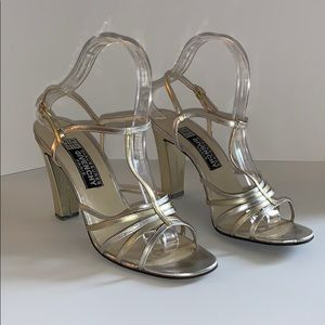 Givenchy vintage Gold and silver heeled sandal 9